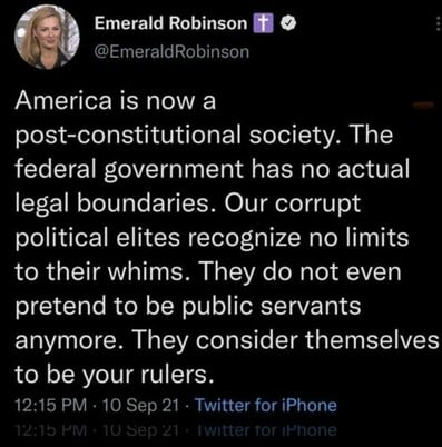 Emerald Robinson with the smackdown truth … – The Donald